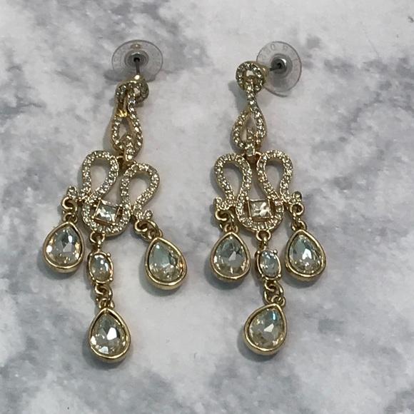 Premier Designs Gold Tone Chandelier Earrings